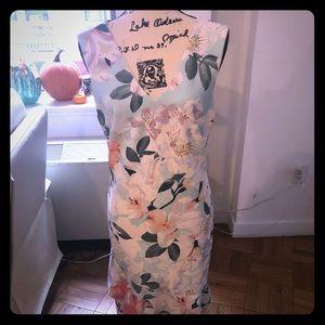 Preowned Calvin Klein Pastel Flower dress size 10